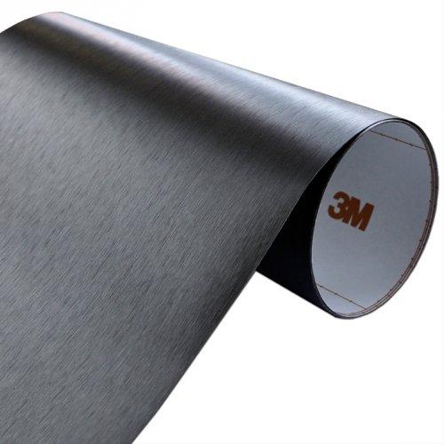 Folia Szczotkowane Aluminium Czarne 3M ME1175 30x150cm