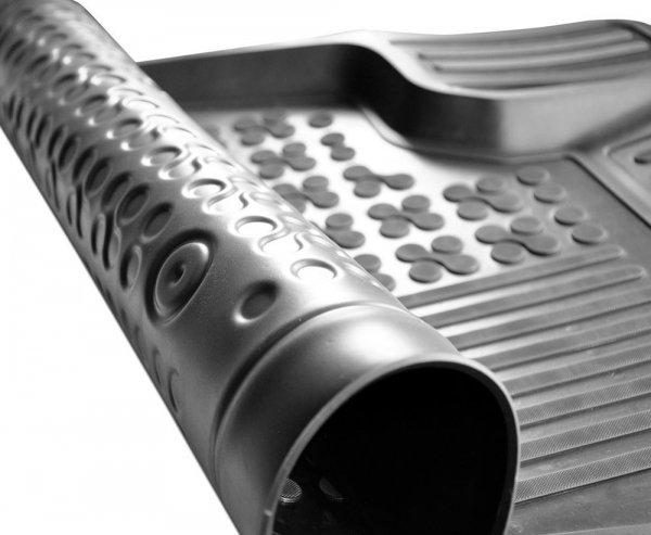 Dywaniki korytka gumowe FIAT DOBLO II od 2010 wersja 3 osobowa