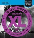 D'Addario EXL120BT struny elektryczne 9-40