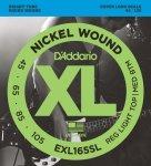 D'Addario EXL165SL struny do gitary basowej 45-105