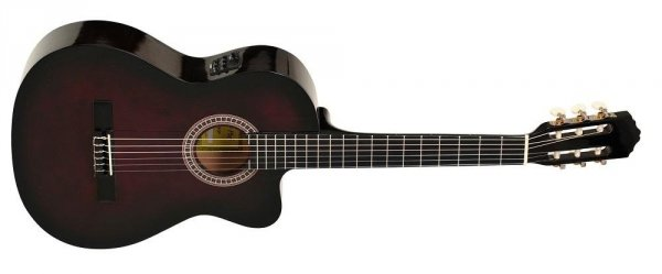 Gitara elektro-klasyczna Ever Play EV-127 CEQ RB