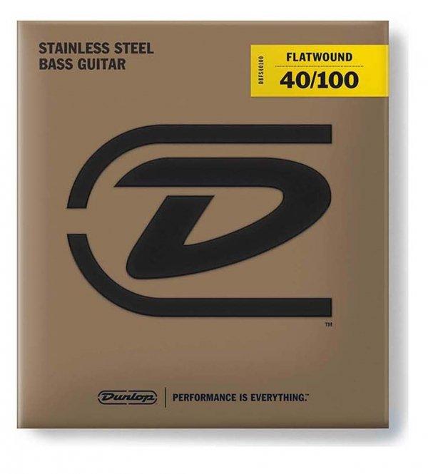 Dunlop DBFS040100 struny basowe stal flaty 40-100 skala długa