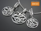 RONCA CRYSTAL komplet srebrnej biżuterii z cyrkoniami