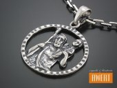 Medalik srebrny Św Krzysztof duży