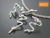 SENTIER srebrny komplet z cyrkoniami
