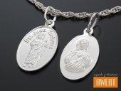Medalik srebrny św. Juda Tadeusz - Serce Jezusa