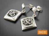 TWERCA kolczyki srebrne
