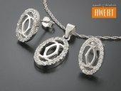 TURIA CRYSTAL srebrny komplet biżuterii z cyrkoniami