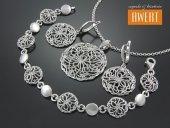 ERIN CRYSTAL srebrny komplet z cyrkoniami