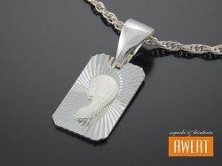 Medalik srebrny Matka Boska Fatimska