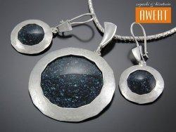 SONYA srebrny komplet biżuterii z awenturynem