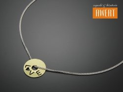 WHEEL SILVER & GOLD srebrny naszyjnik złocenie