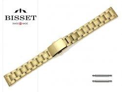 BISSET 16 mm bransoleta stalowa BR106 złota