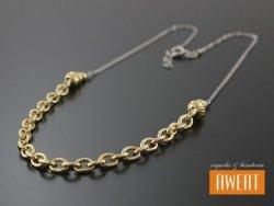 ANZIO GOLD srebrny rodowany naszyjnik pozłacany