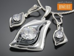 OCULUS srebrny komplet biżuterii z cyrkoniami