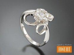 ANETKA CRYSTAL srebrny pierścionek z cyrkonią roz.11