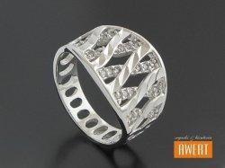 ANAHI CRYSTAL srebrny pierścionek z cyrkoniami roz.12