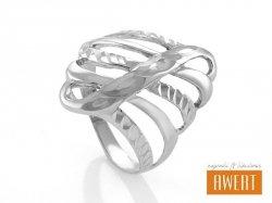 ROXY srebrny pierścionek roz.15