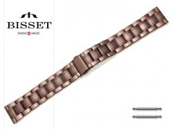BISSET 20 mm bransoleta stalowa BR109 brązowa