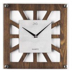 Zegar JVD N127/11 ścienny drewno i szkło quartz