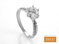 ANCI srebrny pierścionek z cyrkoniami roz. 12