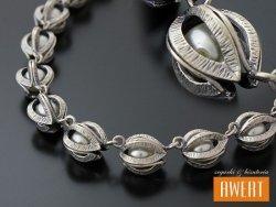 ABILENE PEARL srebrny naszyjnik z z perłami 43 cm