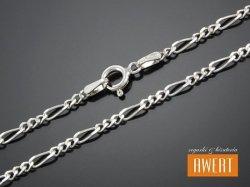 FIGARO łańcuszek srebrny diamentowany 60 cm / 2,5 mm