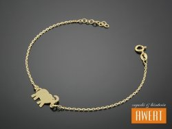 ELEPHANT GOLD srebrna bransoletka pozłacana 19,5 cm