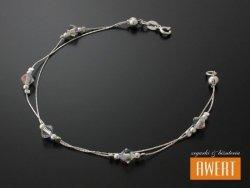 ABHA CRYSTAL AB srebrna bransoletka na rękę kryształy Swarovski 19 cm