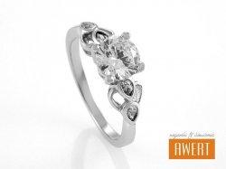 BITOLA CRYSTAL srebrny pierścionek z cyrkoniami roz. 16
