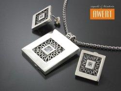 LAYLA CRYSTAL srebrny komplet biżuterii z cyrkoniami