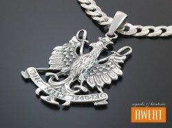 Orzeł w Koronie Boże Zbaw Polskę -wisior srebrny