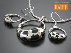 ATIKI srebrny komplet biżuterii
