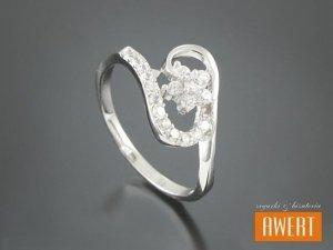 CELETA CRYSTAL srebrny pierścionek z cyrkoniami roz. 16