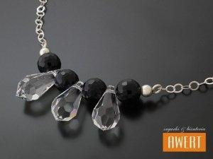 ERCIS srebrny naszyjnik kryształy Swarovski cyrkonie