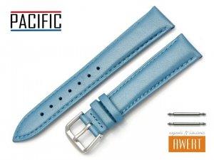 PACIFIC 18 mm pasek skórzany W114 niebieski perłowy