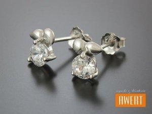 JABŁUSZKA CRYSTAL kolczyki srebrne z cyrkoniami