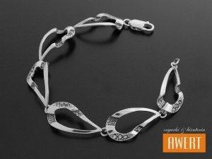 MILENA srebrna bransoleta z cyrkoniami oksyda