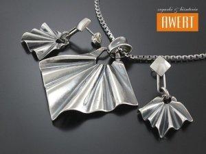 FAXIA PRETA srebrny komplet biżuterii