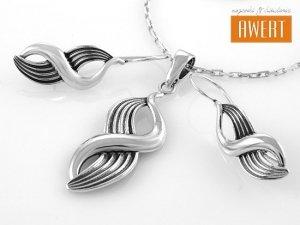 BROOKS srebrny komplet biżuterii