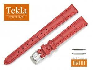 TEKLA 12 mm pasek skórzany PT05B czerwony