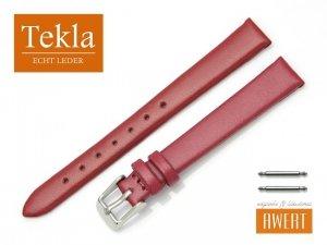 TEKLA 12 mm pasek skórzany PT16A czerwony