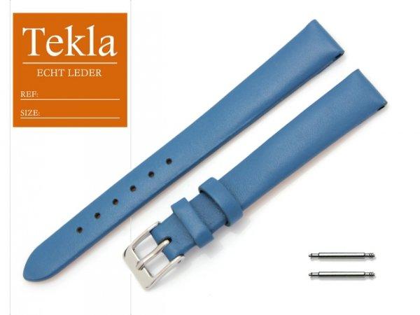 TEKLA 12 mm pasek skórzany PT16 niebieski