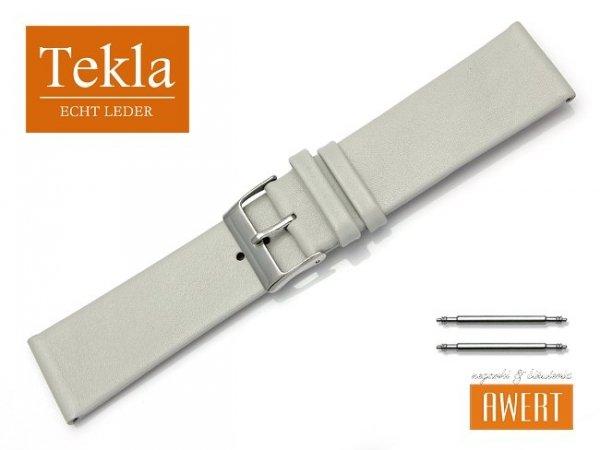Pasek do zegarka TEKLA PT26 skórzany 24 mm szary