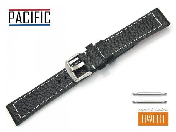 PACIFIC 18 mm pasek skórzany W45 czarny