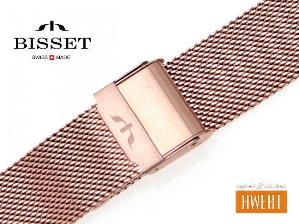 BISSET 16 mm bransoleta stalowa mesh BM101 złota