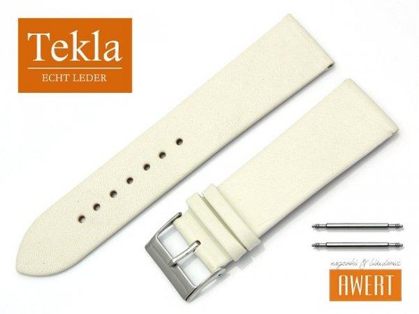 Pasek do zegarka TEKLA PT26 skórzany 24 mm ecru