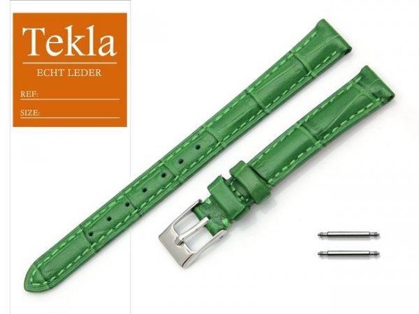 TEKLA 12 mm pasek skórzany PT41 zielony
