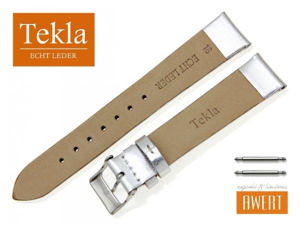 TEKLA 18 mm pasek skórzany PT11 srebrny
