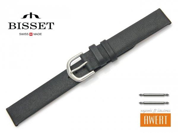 Pasek skórzany do zegarka 16 mm BISSET BS105 czarny